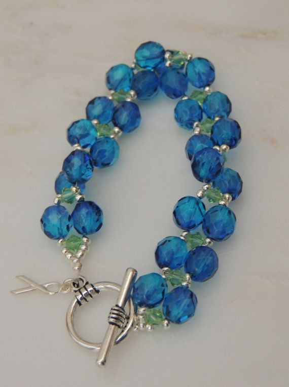 Cri Du Chat Awareness Bracelet Blue and Green by SimplyYoursbyLin, $18.00