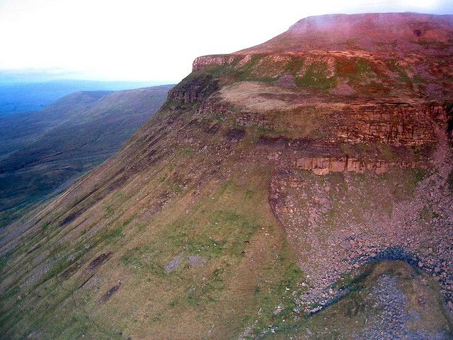 Looking back at Ingleborough from a paraglider
