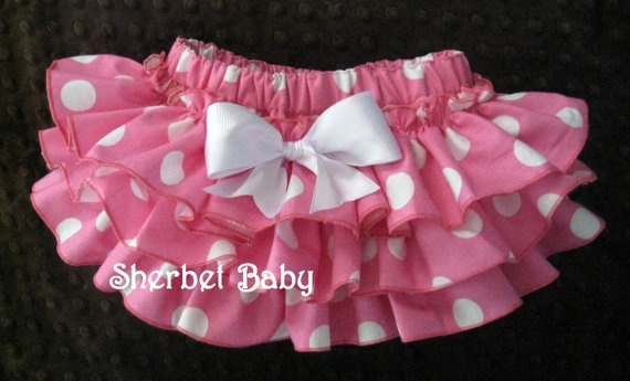 Original Sassy Pants Ruffle Diaper Cover Panty Big by SherbetBaby, $32.00