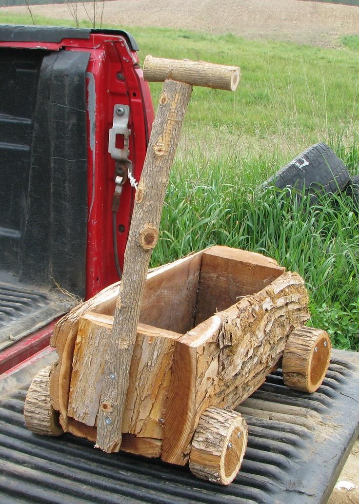 Amish made wagon planter