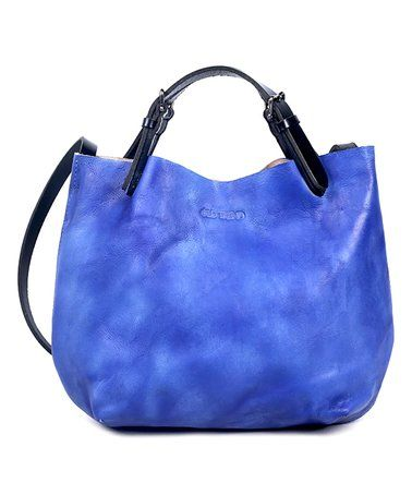 Love this Sky Blue Dip-Dye Mini Leather Tote on #zulily! #zulilyfinds