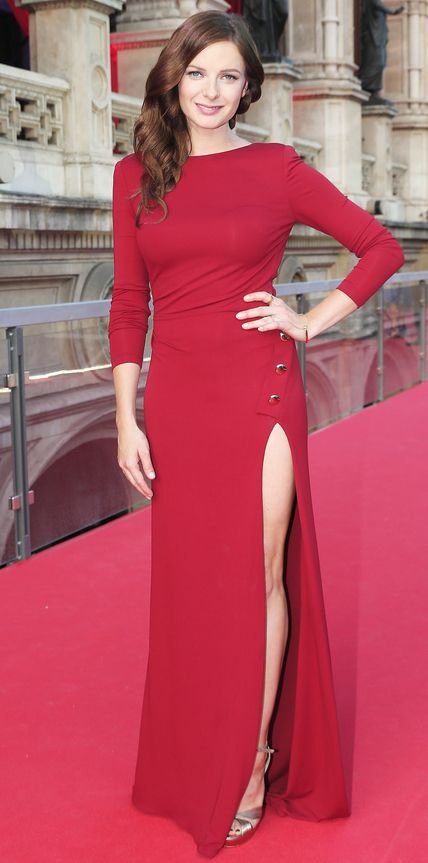 Rebecca Ferguson in Elie Saab at the Mission Impossible—Rogue Nation premiere.