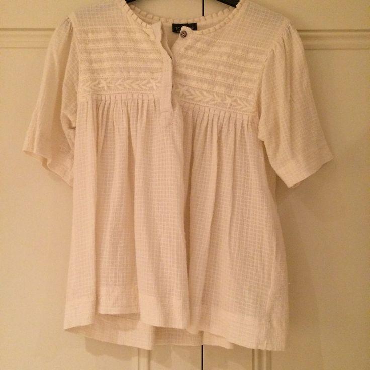 Women's Topshop Embroidered Cream Blouse UK 10    eBay
