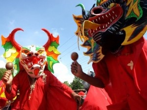 "Diablos danzantes de Yare; a priest said, ""What do I have to do to get people to go to church? Dress as a devil?"" and this tradition was born in Venezuela."