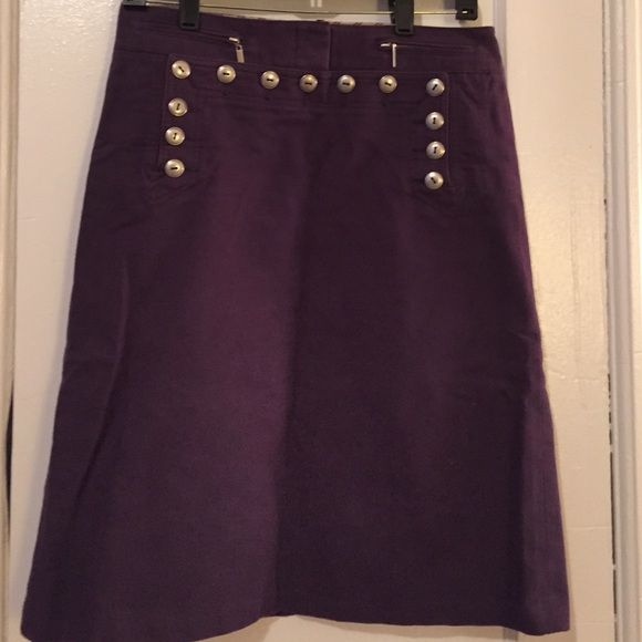 BCBG military style skirt. Thick cotton. Size 4. Max Azria collection. Purple. BCBG Skirts Midi