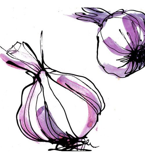 Garlic is delish. So is Stina Persson's artwork, which I am obsessed with.