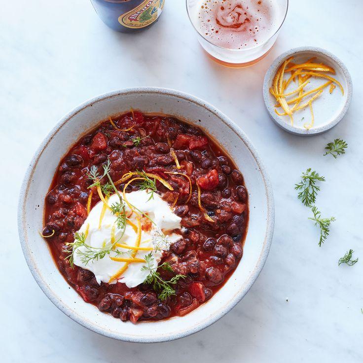 Thank you @foodandwine for sharing my Vegetarian Black Bean Chili recipe! #YHIM
