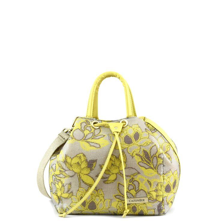 Bauletto con tessuto floreale e finiture in ecopelle CafèNoir - Shoes, Bags and Accessories