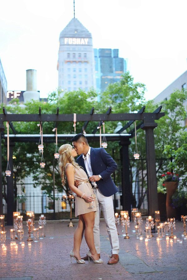 Glamorous Gold Surprise Proposal www.agapemoments.net