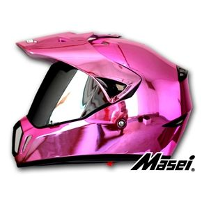 MASEI 310 PINK CHROME ATV MOTOCROSS MOTORCYCLE ICON HELMET (Custom Order)