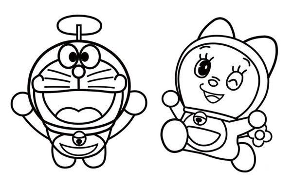 32 Gambar Kartun Doraemon Yang Belum Diwarnai Di 2020 Dengan