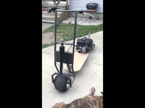 Custom Gas Powered Scooter 212cc walk around - YouTube