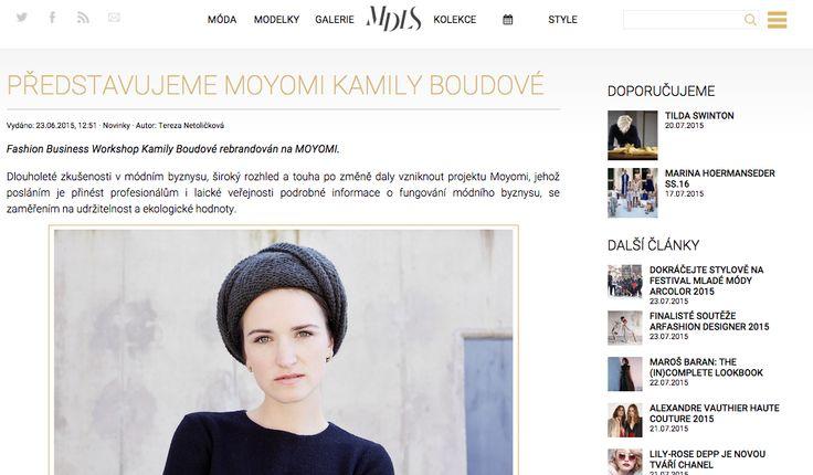Kamila Boudová představuje projekt Moyomi