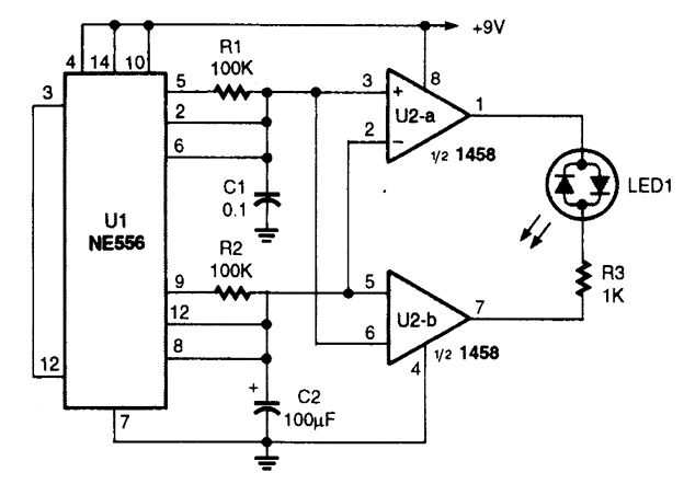 color-shifting led display - circuit diagram