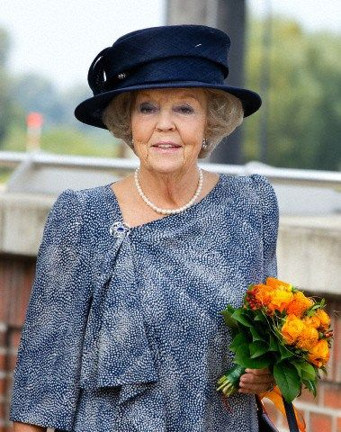 Princess Beatrix, September 5, 2014 | Royal Hats..... On September 5, Princess Beatrix visited Hitzacker, Germany, the birthplace of her late husband Prince Claus, to open a street named in the Prince's honor.