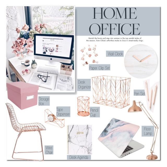 """Work Hard: Home Office"" by carlottabruni ❤ liked on Polyvore featuring interior, interiors, interior design, home, home decor, interior decorating, Recover, Forever 21, U Brands and Zuo"
