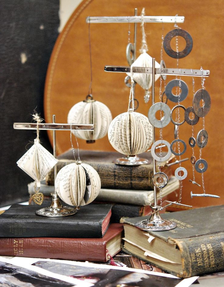 Book pages ornaments