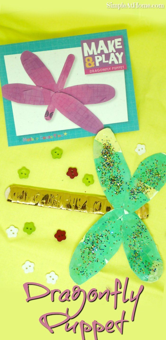 Dragonfly arts and crafts - Dragonfly Puppets