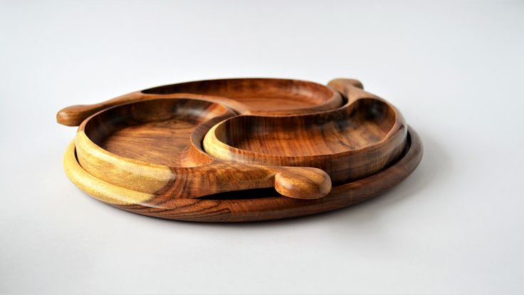 Trays - HARMONY snack plate, wooden plate, jewelery bowl - a unique product by Omar-Handmade on DaWanda