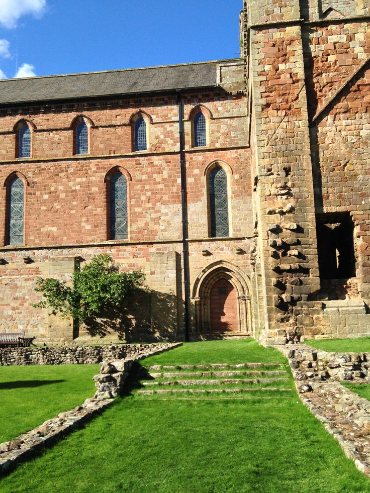 Lanercost Priory's interior courtyard where the dormitories were -- where Nigel and Adrian slept.