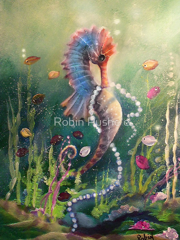 Sea Of Pearls By Robin Pushe E Seahorse Art Mermaid