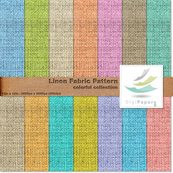 Linen Fabric Pattern by DigiPapers