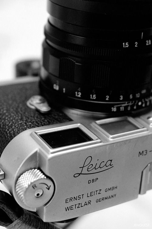 Leica M3 with Voigtlander Nokton 50mm f1.5 (the old...