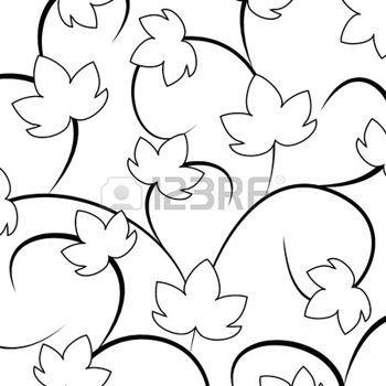 hojas de otoño dibujo: blackground con hojas de uvas blancas y negras. Ilustración vectorial Vectores