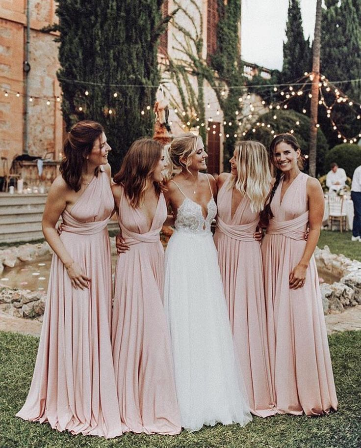Summer Sweetness Blush Pink Bridesmaid Dresses Pink Bridesmaid Dresses Wedding Bridesmaids,Simple Maroon Dress For Wedding Guest