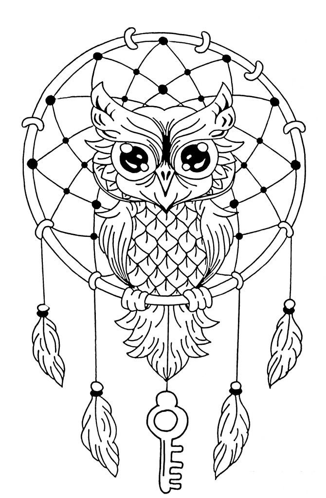 Dream Catcher Coloring Pages Mandalas Animales Mandala De Buho