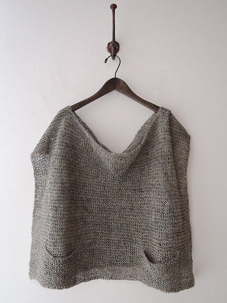 Knitted linen top, by Daniela Gregis. Her's is the clothing stuff made of dreams.