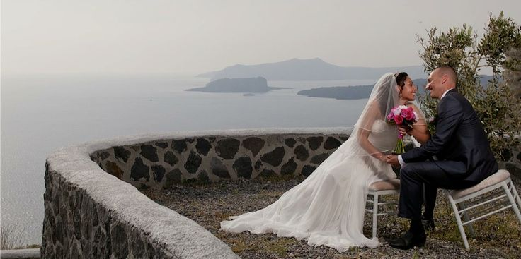 In front of the hotel, facing the Caldera is the chapel of St. Efstatios where you can perform your wedding ceremony and exchange vows while the sun is setting leaving its bright, warm colors sinking into the endless blue…