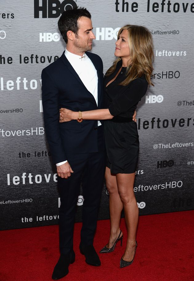 Jennifer Aniston and Justin Theroux walked red carpet together #BradPitt, #JenniferAniston, #JustinTheroux, #TheLeftover