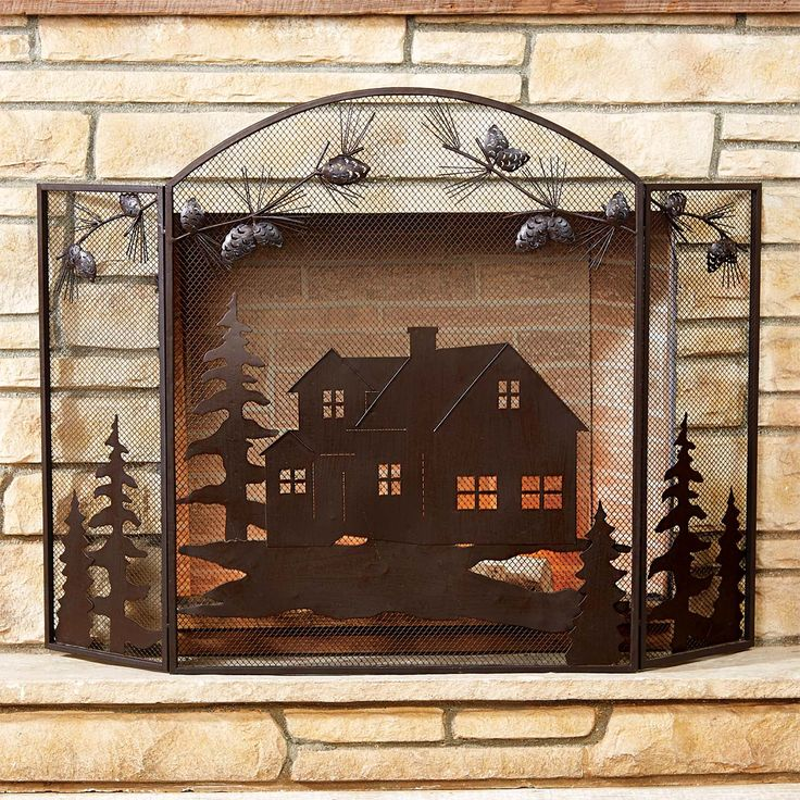 The 25+ best Rustic fireplace screens ideas on Pinterest | Rustic ...
