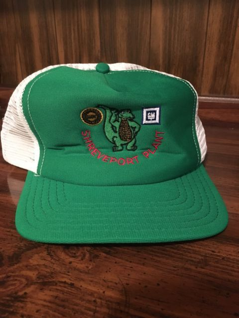 VTG GM UAW Shreveport Plant Trucker Hat Snap Back Mesh 80s General Motors Chevy | eBay