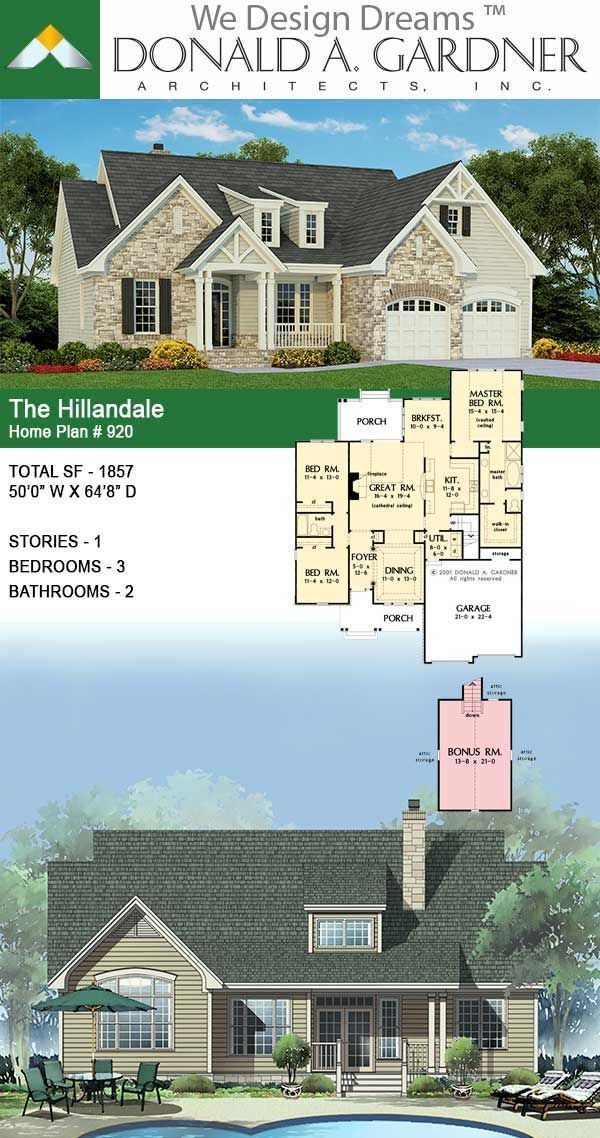 House Plan The Hillandale Home Plan In 2020 House Plans Dream House Plans Residential Architecture