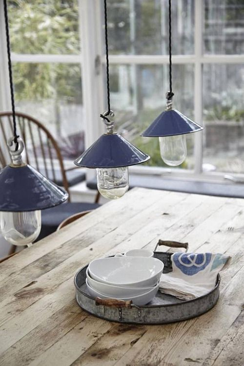 The lamps and table.
