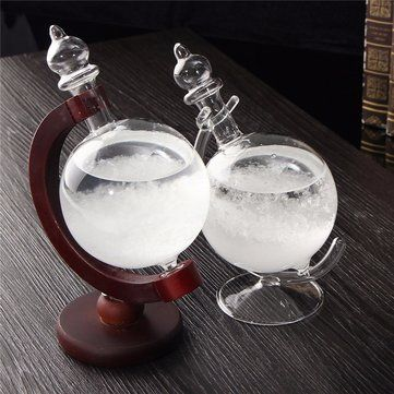 Only US$25.39, buy best Weather Forecast Crystal Wood/Glass Base Home Decor Christmas Gift sale online store at wholesale price.US/EU warehouse.