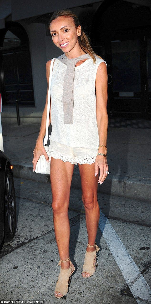 Daring to bare: Giuliana Rancic still chose to show off her super-skinny figure in a revea...