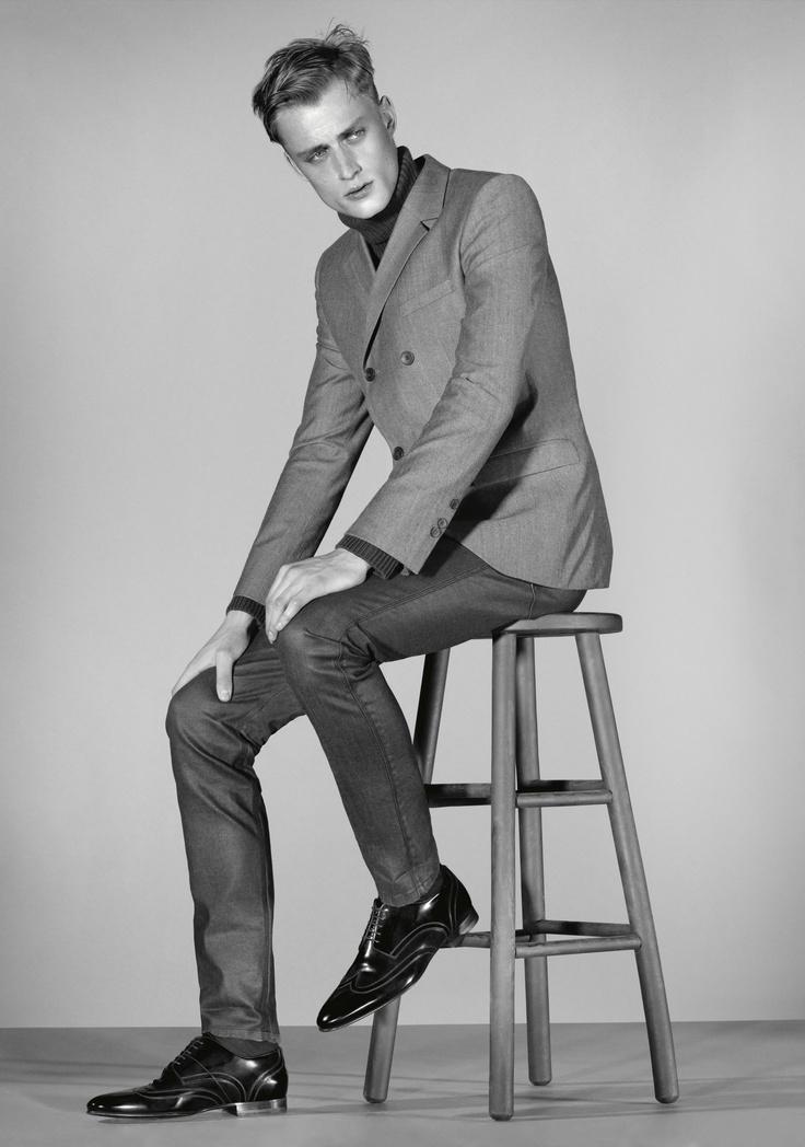 HUGO Fall 2012 Collection featuring male model Bastiaan van Gaalen.