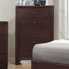 Homelegance Kari Warm Brown Cherry Asian Hardwood 5-Drawer Chest 2146-9
