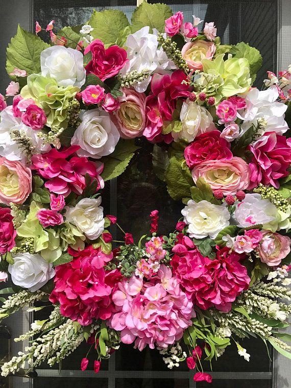 Spring Wreaths For Front Door Mother S Day Wreaths Front Spring Wreath Diy Spring Wreath Holiday Wreaths