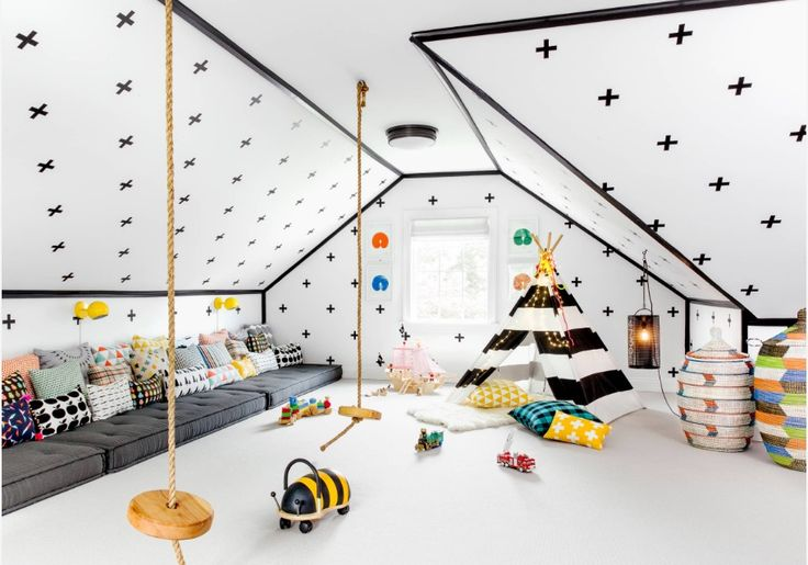 Playrooms should be both fun and functional. Image: Chango & Co.