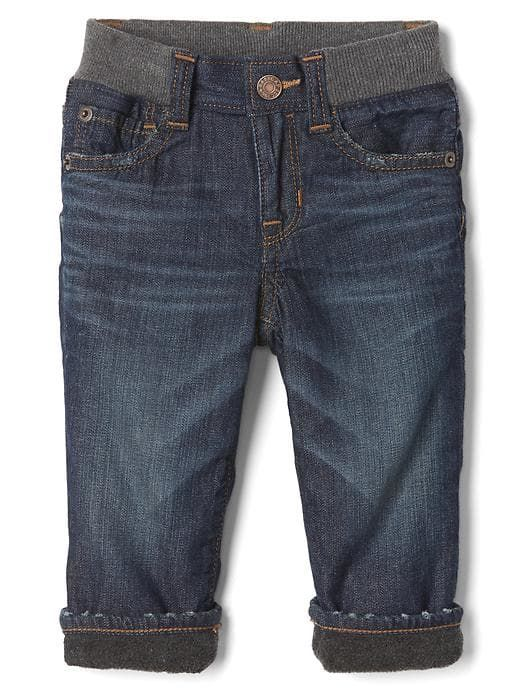 1969 my first fleece-lined straight jean $35