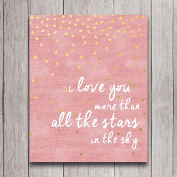 I Love You More than All the Stars in the Sky por INVITEDbyAudriana