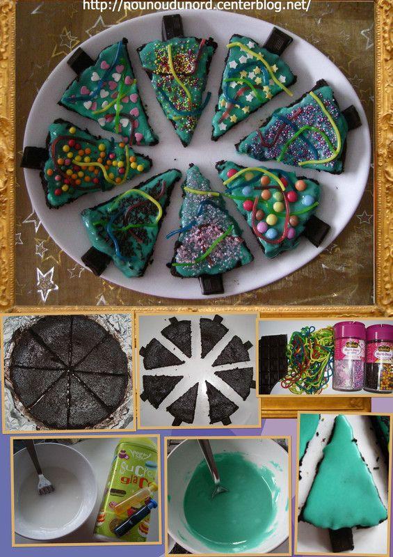 Notre gâteau de NOËL 2012 des petits sapins