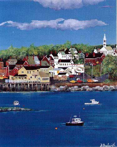 Damariscotta, Maine..this is where Leaves and Pages was supposed to be...we ended up in New Britain, Ct instead...