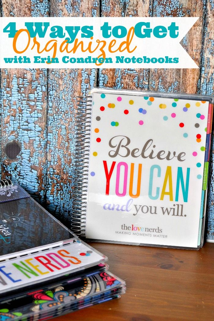 Do you like having a place for everything? Do you tend to lose things? Or, maybe you want to keep track of special moments! Check out these 4 Ways to Get Organized with Brand New Erin Condren Notebooks! {The Love Nerds} #spon @erincondren