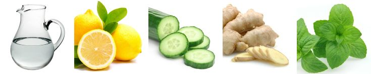 Easy {week long} Cleanse 64oz Water 1 Lemon   thinly sliced 1 Cucumber   peeled, sliced 1 to 2 tsp Gingers   grated 10 to 15 Mint Leaves  Fill a water pitcher with water adding all your ing. and place in the fridge overnight. Come morning have one 8oz glass one hour before breakfast and another two hours after; doing the same for every meal, one hour before and 2 hours after. Finish the balance two glasses through out your day where you choose or at the end of your evening.