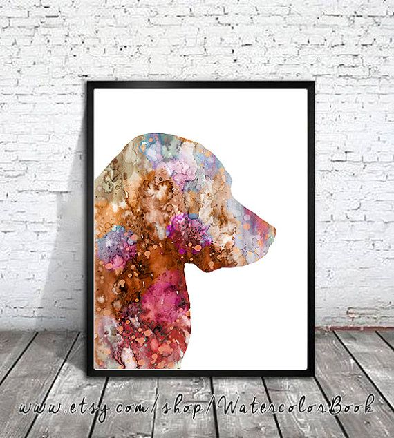 Golden Retriever 6 Watercolor Print, Childrens Wall, Art Home Decor, dog watercolor, watercolor painting, Golden Retriever art, animal watercolor